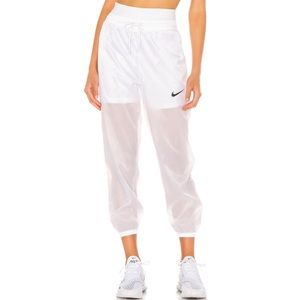 NWT | NIKE track pant in white sheer